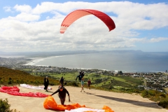 Paragliding off the Kleinrivier Mountains
